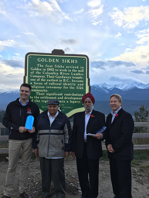 A new Stop of Interest sign was unveiled in Golden today, recognizing the community's early Sikh pioneers and the role they played in Golden's history. BC Transportation and Infrastructure (facebook.com)